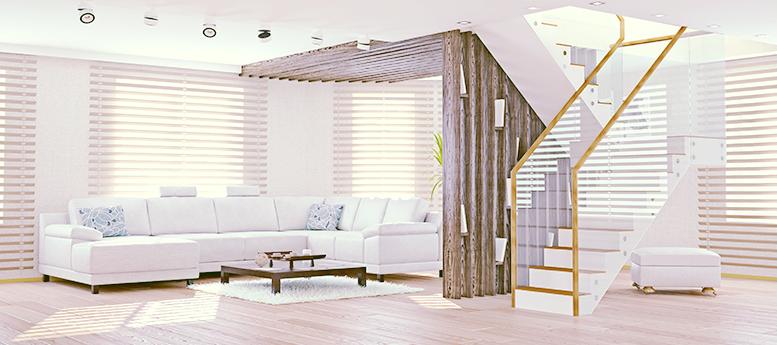 家具、壁紙、フローリング